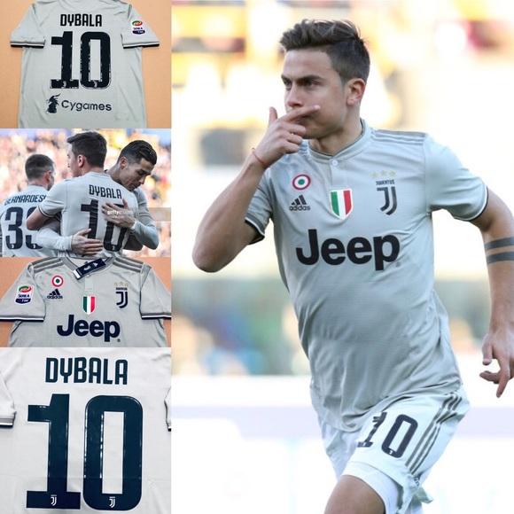 quality design 6e7c7 02c88 🚨 2019 AWAY Juventus FC Dybala #10 Soccer Jersey NWT